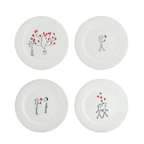 $102.00 Canape Plate, Set of 4 Assorted