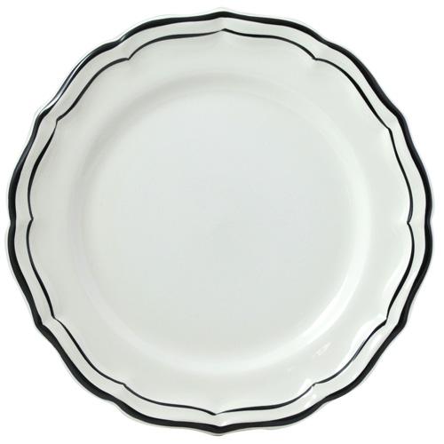Gien  Filet Midnight/Manganese Round Deep Dish $98.00