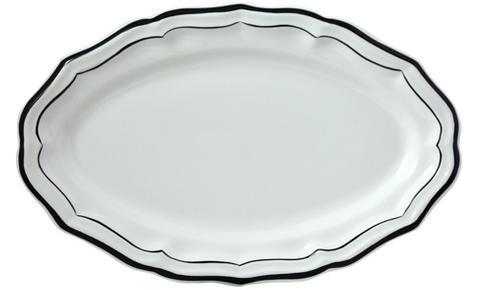 Gien  Filet Midnight/Manganese Oval Platter $115.00