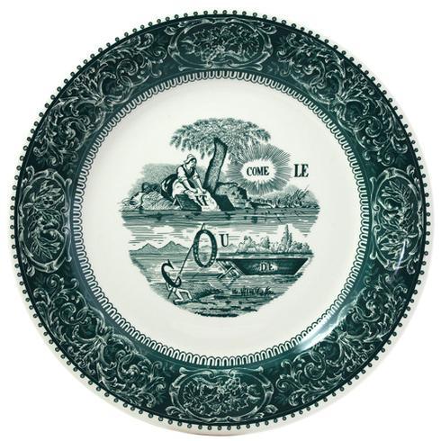 $45.00 Rebus Dinner Plate