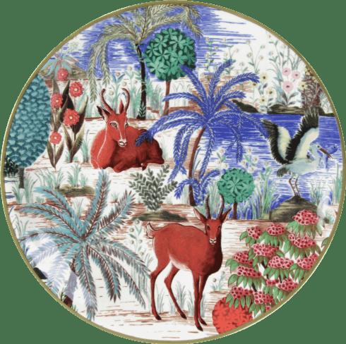 Gien  Le Jardin Du Palais Canape Plates Assorted $136.00