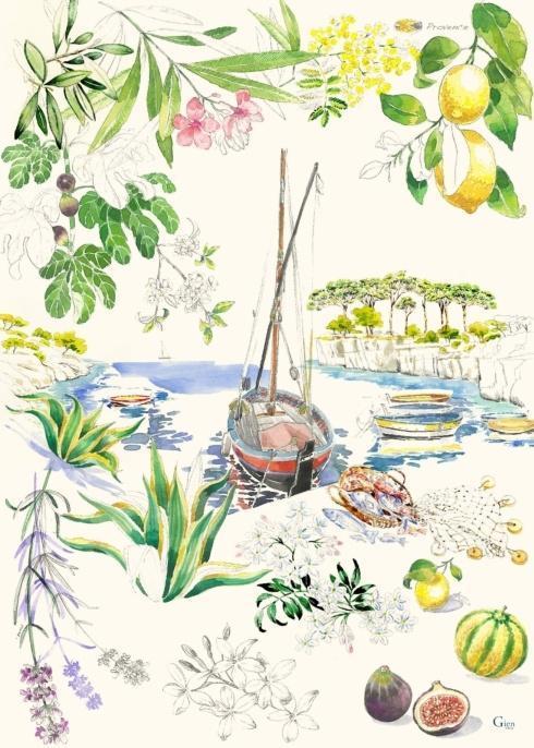 Gien  Provence Tea Towel, Set of 4 $96.00