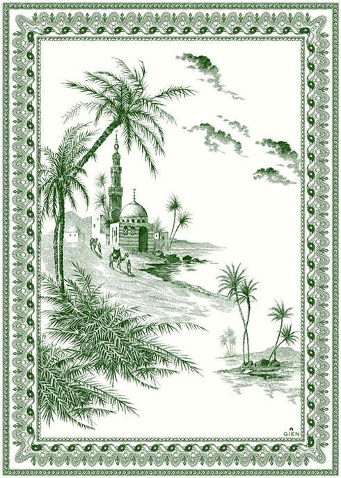$96.00 Vue d\'Orient Tea Towel