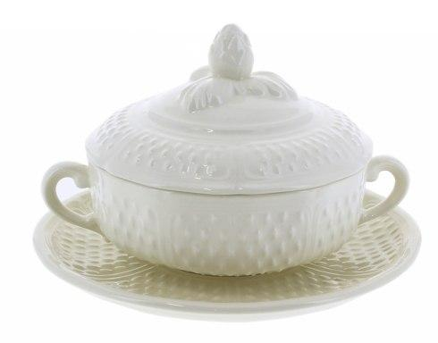 $300.00 Covered Bouillon Cups and Saucers, Set of 2
