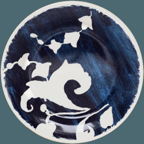 $34.00 Canape Plate - Blue Arabesque