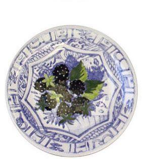 $34.00 Canape Plate, Blackberry