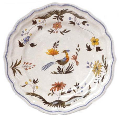 Gien  Oiseaux De Paradis Dinner Plate $57.00