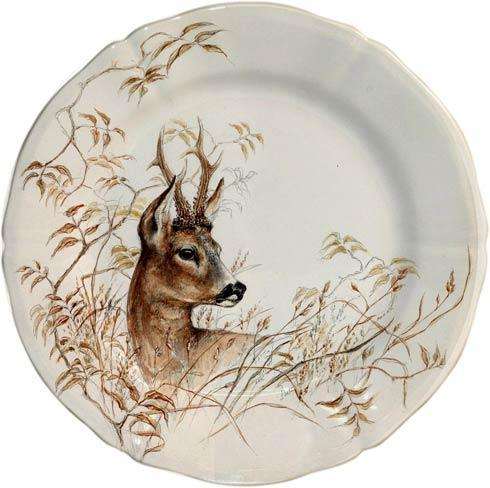 Gien  Sologne Dessert Plate, Deer $45.00