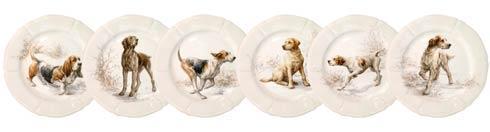 $270.00 Dessert Plates - Asst\'d Dogs, Boxed Set Of 6