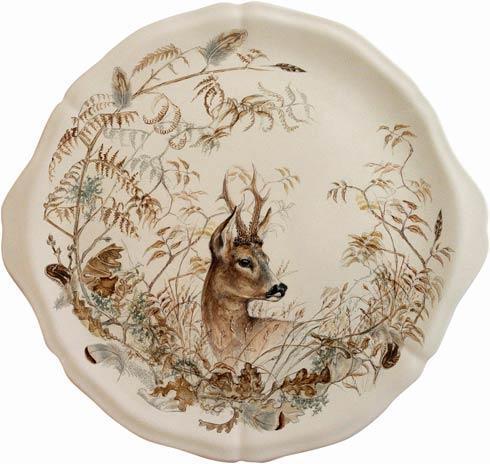 Gien  Sologne Eared Cake Platter, Deer $115.00