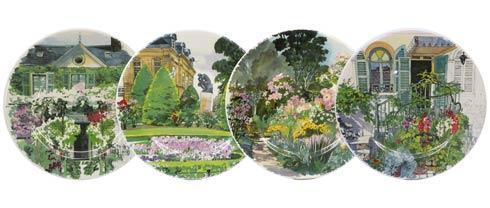 Gien  Paris A Giverny Dessert Plates, Assorted Box Set Of 4 $192.00