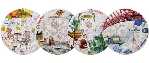 $180.00 Dessert Plates, Assorted Boxed Set Of 4