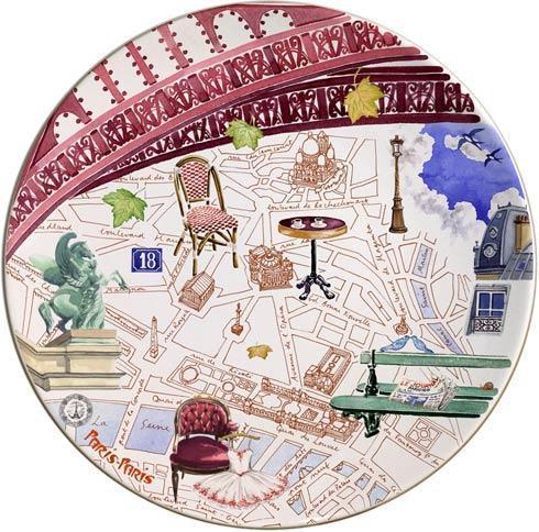 Gien  Paris Paris Cake Platter $120.00