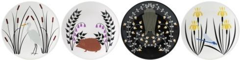 $136.00 Canape Plates - Set of 4 Assorted