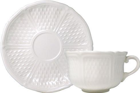 Gien  Pont Aux Choux White Breakfast Cups and Saucers, Set of 2 $146.00