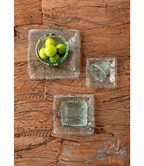 Shiraleah   Medium Rustic Square Platter - Clear  $17.95