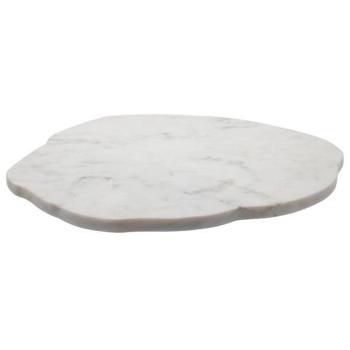 $74.95 Organic White Marble Lazy Susan