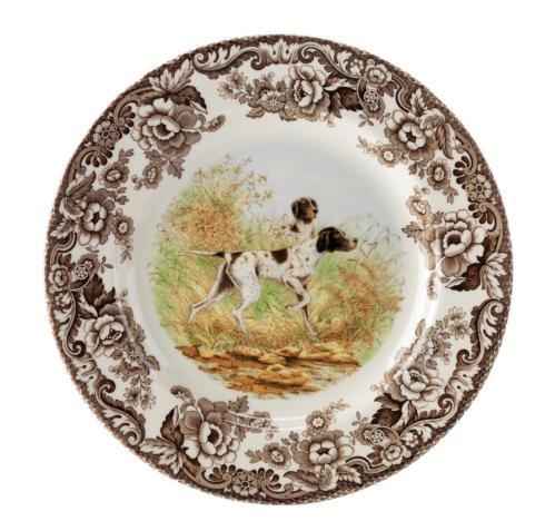 Spode  Woodland Spode Woodland Dinner Plate 10.5 Inch (Flat Coated Pointer) $45.95