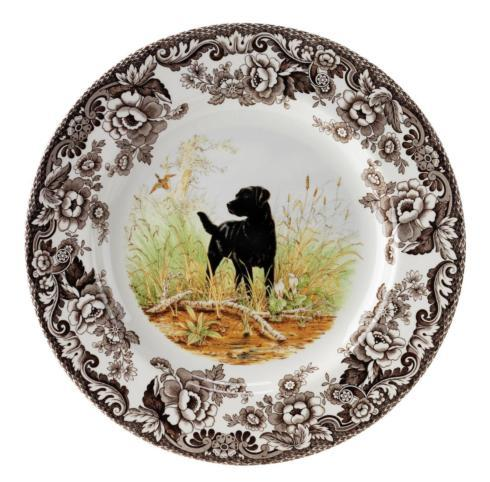Spode   Spode Woodland Salad Plate 8 Inch (Black Labrador Retriever) $32.50