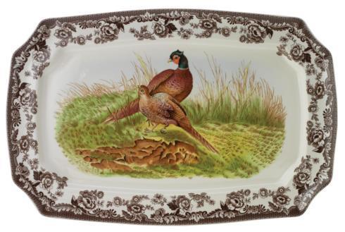 Spode   Spode Woodland Rectangular Platter 17.5 Inch (Pheasant) $165.00