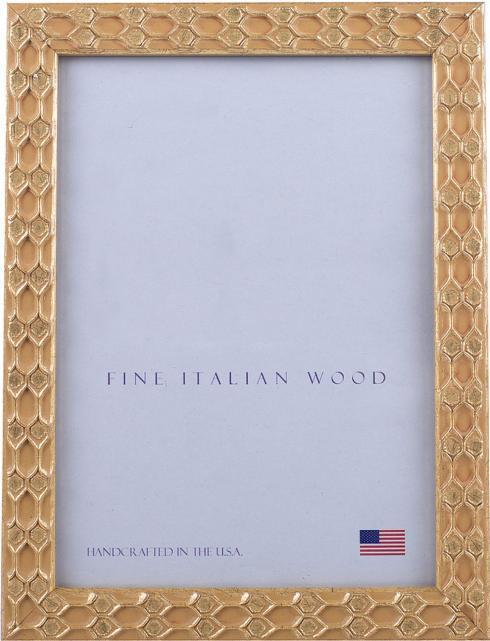"Elizabeth Clair\'s Unique Gifts  Frames Gold Honeycomb 3.5"" X 5"" Frame $24.95"