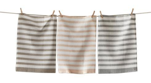 Crambray Waffle Weave Strip Dishtowel collection with 1 products