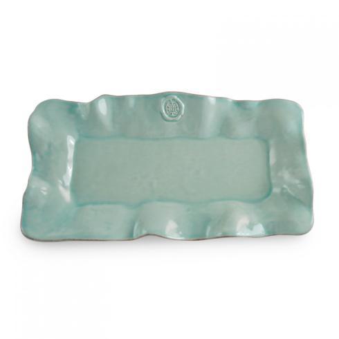 $97.95 Beatriz Ball - Ceramic - Medallion Rectangular Platter Aqua (LG)