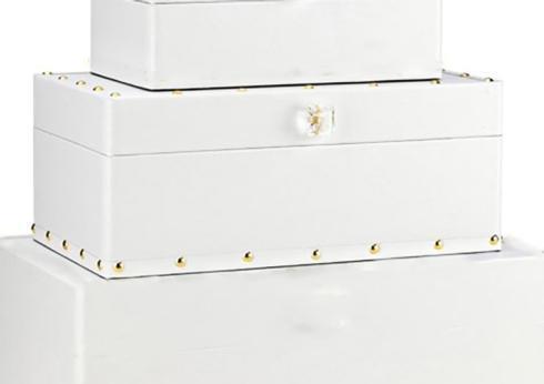 $43.95 Medium Skye Box Rectangular White and Gold