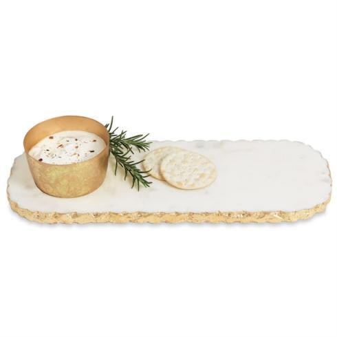 Mud Pie    Dip and Tray, Chipped Marble  $33.95