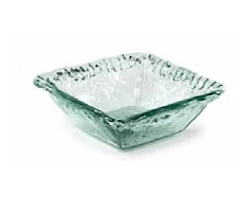 $15.95 Iceberg Glass Small Square Deep Bowl