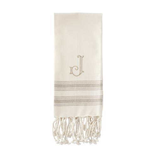 $8.95 INITIAL TURKISH HAND TOWELS (J)
