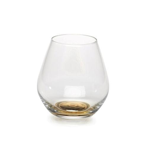 Zodax  Glasses Stemless Glass Gold Base $14.95