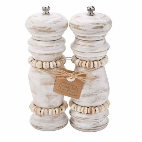 Mud Pie   WHITE BEADED GRINDER SET $42.95