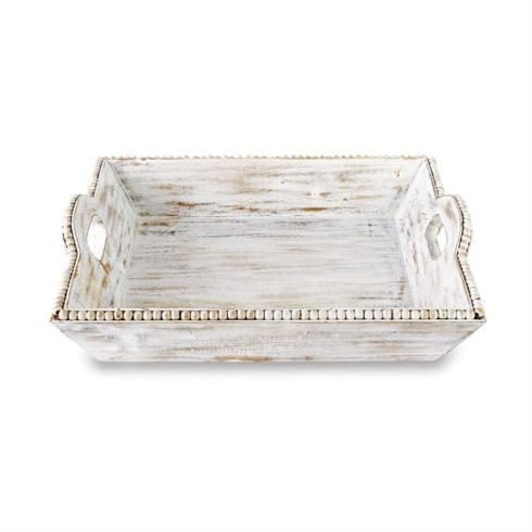 Mud Pie   Beaded WoodTray $62.95