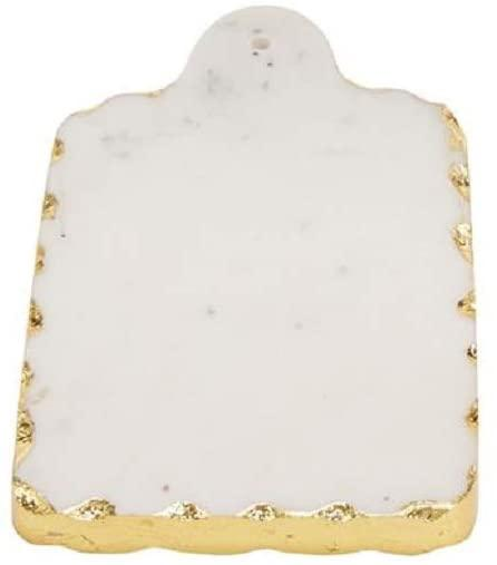 Mud Pie   Rectangular Gold Marble Small Board $11.95