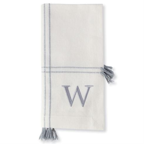 Mud Pie   W Initial Napkin Set $18.95