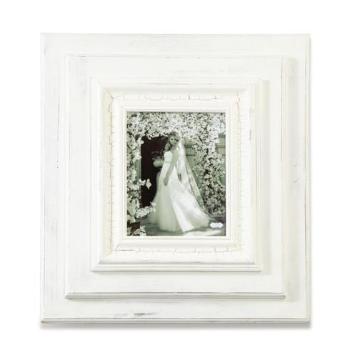"""$71.95 23"""" X 21"""" WHITE-WASHED WOOD PICTURE FRAME Holds 8"""" x 10"""" Picture"""
