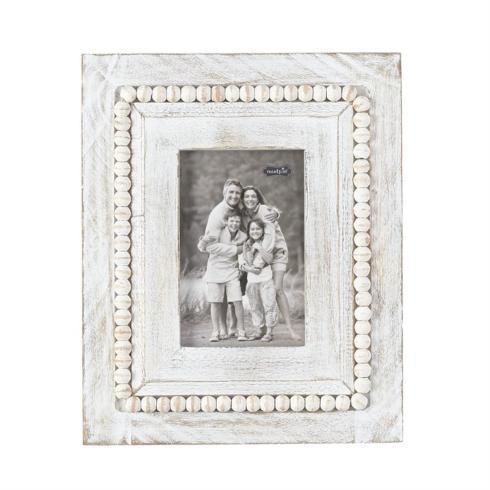 RECTANGLE WHITEWASH BEADED FRAME collection with 1 products