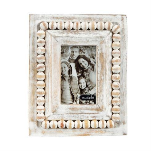$14.95 WHITEWASH BEADED SMALL RECTANGLE PICTURE FRAME