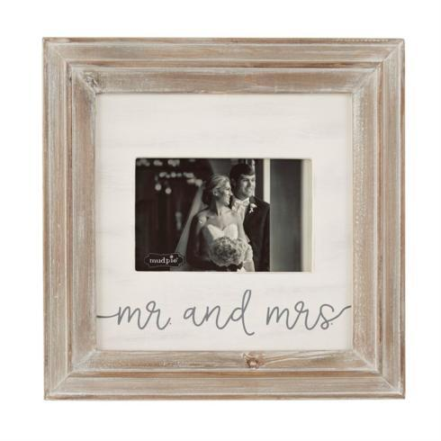 Mud Pie   MR. AND MRS. SMALL WOOD PICTURE FRAME $27.95