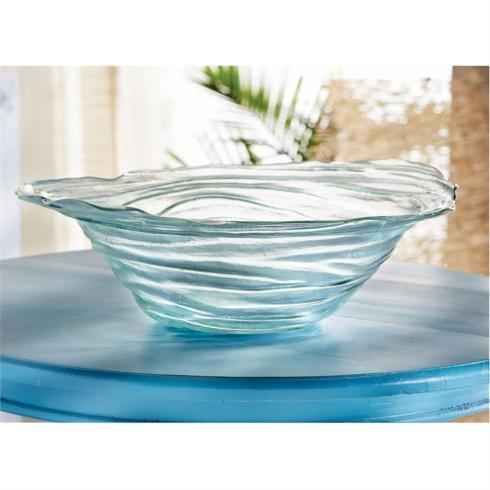 Mud Pie   TINTED GLASS DECORATIVE BOWL $43.95