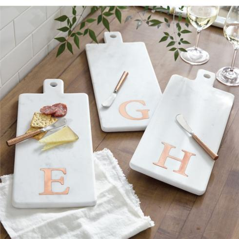 Mud Pie   Initial Marble & Copper Board Sets $35.95