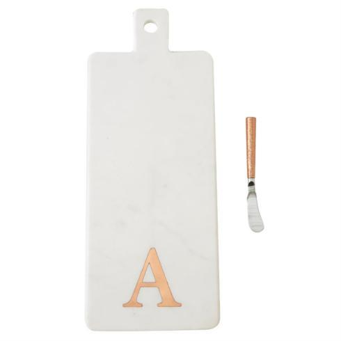 $35.95 Initial A  Marble Serving Board Set