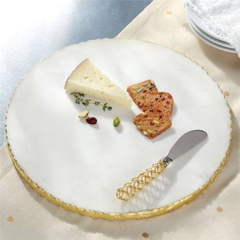 Mud Pie   Gold Edge Marble Serving Board Set $35.95