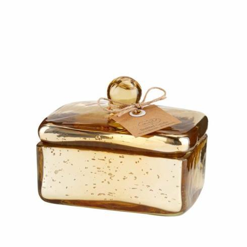 $17.95 GOLD MERCURY GLASS CANDLE