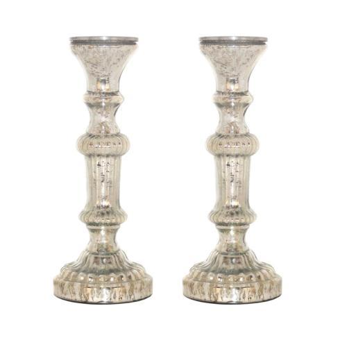 Pomeroy   Mercury Glass Pillar Candleholders $34.95