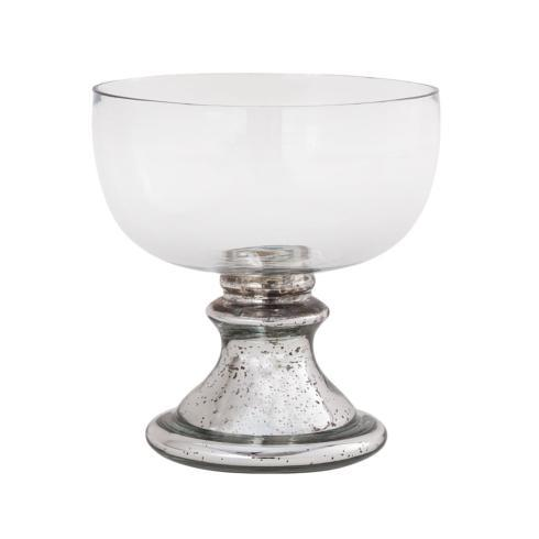 Pomeroy   Pedestal Bowl Mercury Glass $24.95