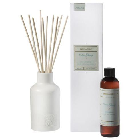 Aromatique   COTTON GINSENG REED DIFFUSER SET $40.00