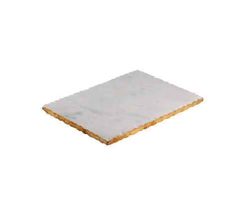Elizabeth Clair\'s Unique Gifts   White Marble Serving Trays and Stands  Old Hollywood Rectangular Serving Tray, One Size, White Marble $47.95