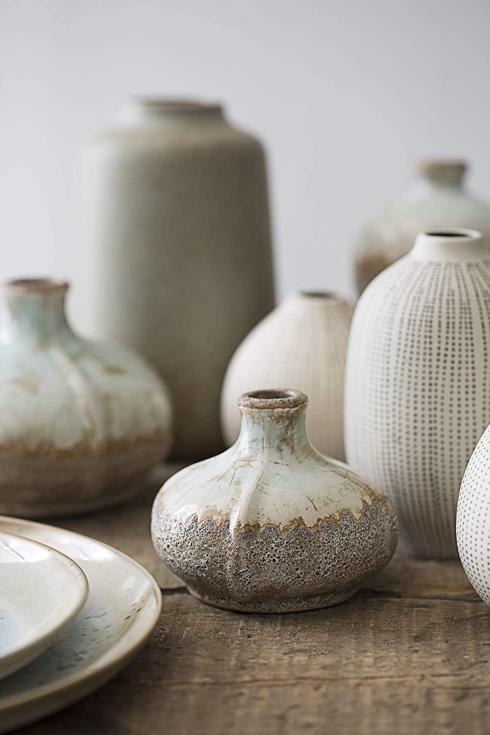 Creative Co-op   Round Terracotta Vases with Distressed Finish  $10.95